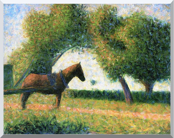 Georges Seurat Horse stretched canvas art print