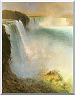 Frederic Edwin Church Niagara Falls From The American Side stretched canvas art