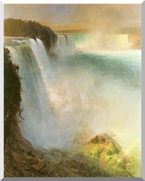 Frederic Edwin Church Niagara Falls, from the American Side stretched canvas art print