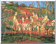 Camille Pissarro The Red Roofs stretched canvas art