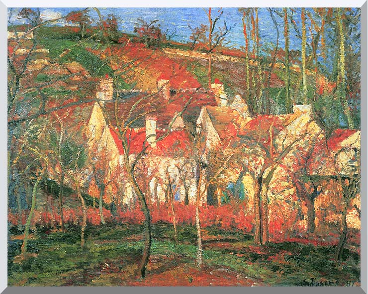 Camille Pissarro The Red Roofs stretched canvas art print