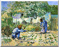 Vincent Van Gogh First Steps stretched canvas art