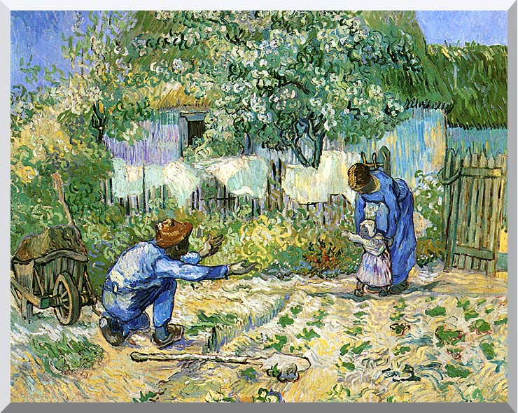 Vincent van Gogh First Steps stretched canvas art print