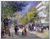 Pierre Auguste Renoir The Great Boulevards stretched canvas art