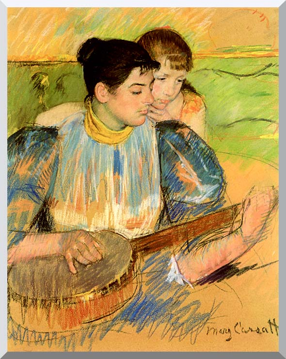 Mary Cassatt The Banjo Lesson stretched canvas art print