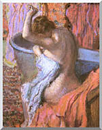 Edgar Degas Seated Bather Drying Herself stretched canvas art