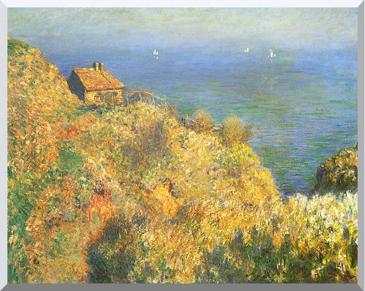 Claude Monet The Fisherman's House, Varengeville stretched canvas art print