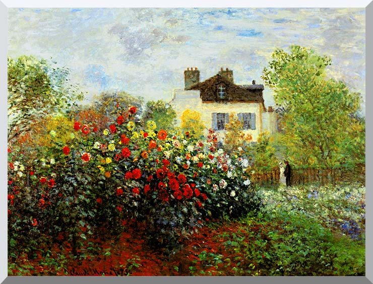 Claude Monet Monet's Garden at Argenteuil stretched canvas art print