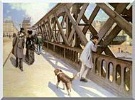 Gustave Caillebotte Le Pont De Leurope stretched canvas art