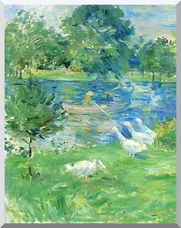 Berthe Morisot View of the Bois de Boulogne stretched canvas art print