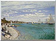 Claude Monet Regatta At Sainte Adresse stretched canvas art