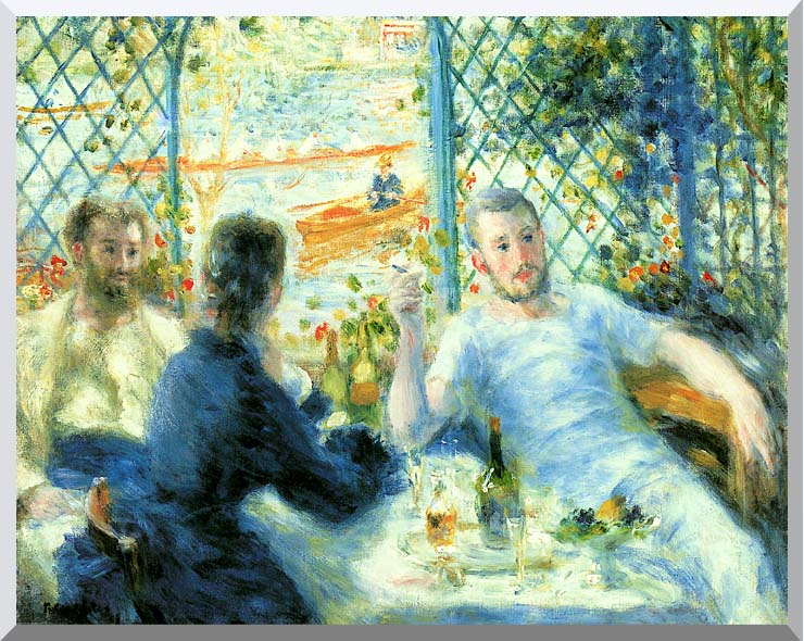 Pierre Auguste Renoir The Canoeist's Luncheon stretched canvas art print