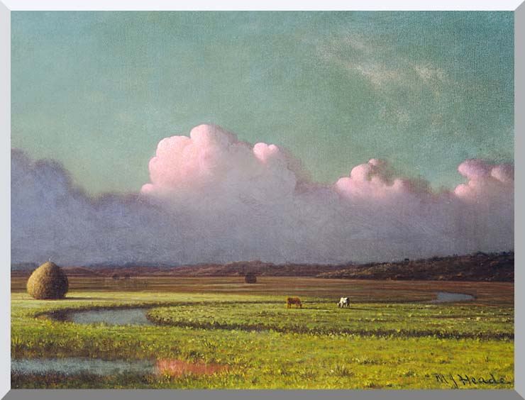 Martin Johnson Heade Sunlight and Shadow, The Newbury Marshes (detail) stretched canvas art print
