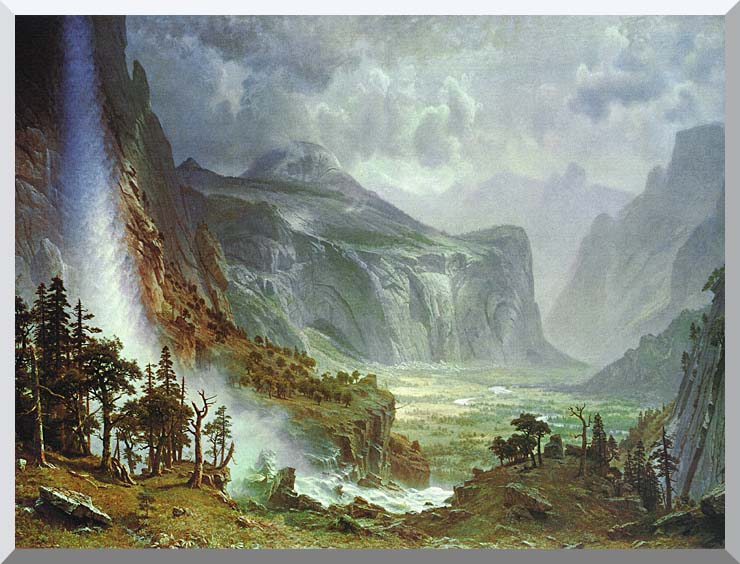 Albert Bierstadt The Domes of the Yosemite stretched canvas art print