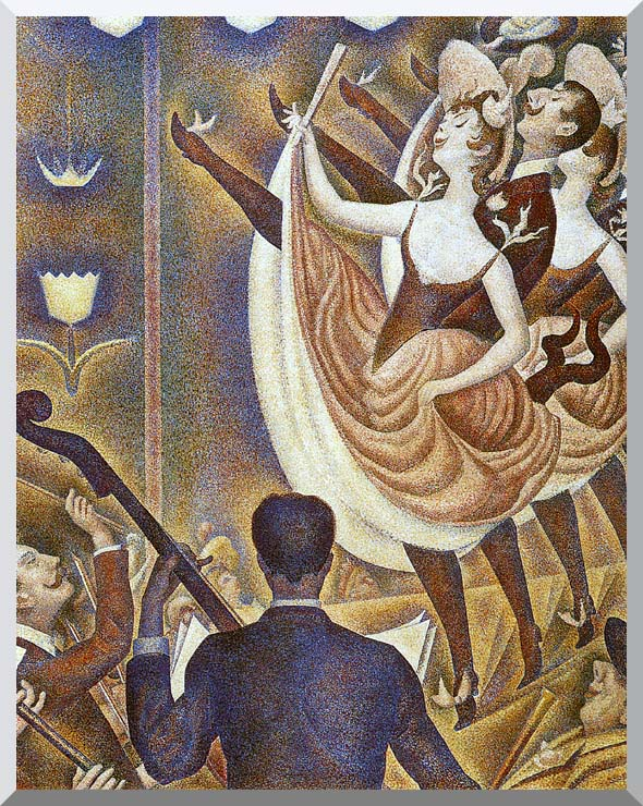 Georges Seurat Le Chahut stretched canvas art print