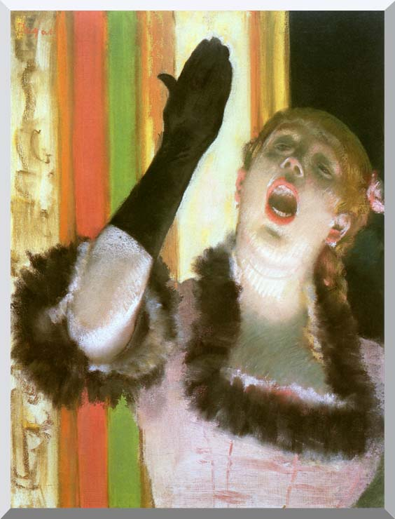 Edgar Degas Singer with a Glove stretched canvas art print