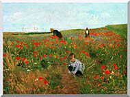 Mary Cassatt Poppies In A Field stretched canvas art