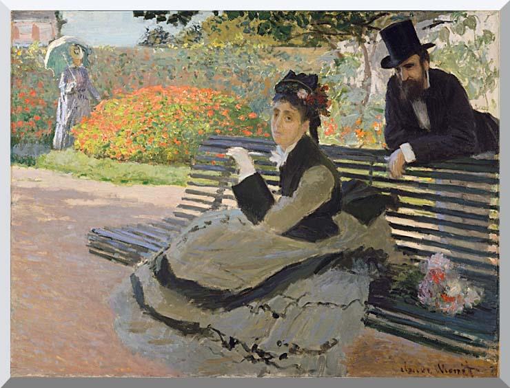 Claude Monet Camille Monet on a Garden Bench stretched canvas art print