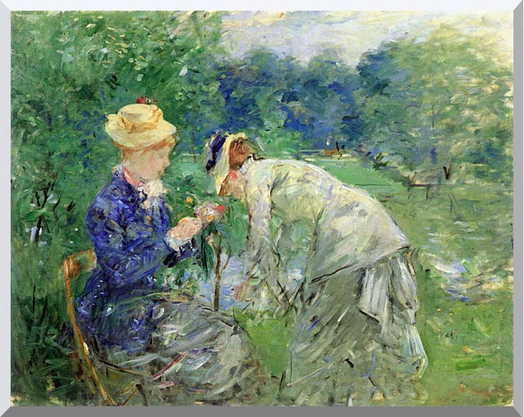 Berthe Morisot In the Garden 1879 stretched canvas art print