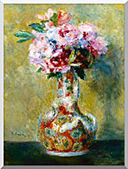 Pierre Auguste Renoir Bouquet In A Vase stretched canvas art