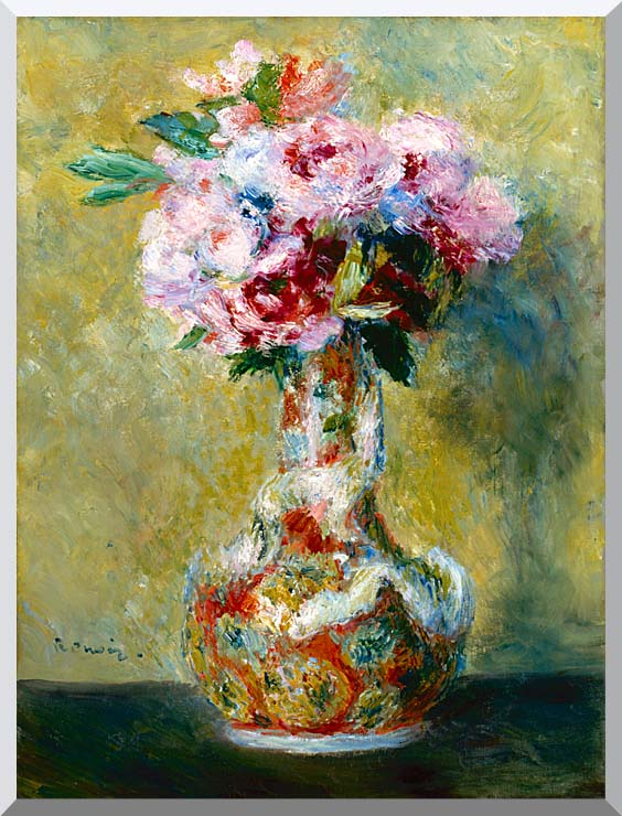 Pierre Auguste Renoir Bouquet in a Vase stretched canvas art print