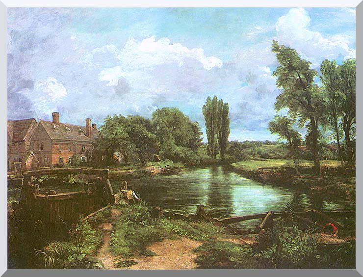 John Constable A Water-Mill stretched canvas art print