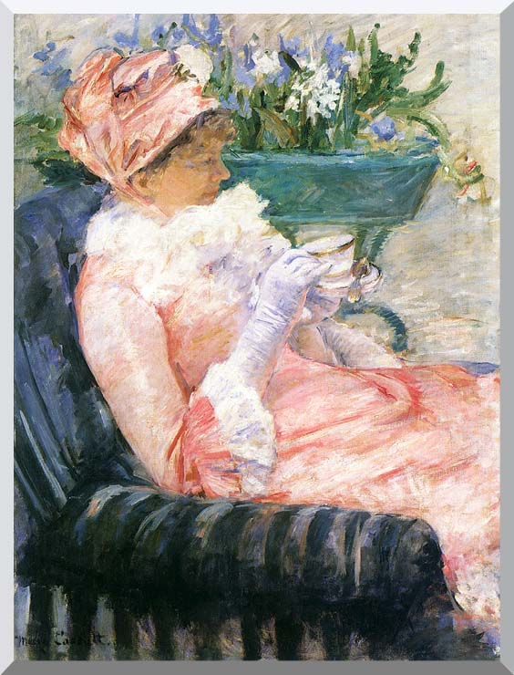 Mary Cassatt The Cup of Tea stretched canvas art print