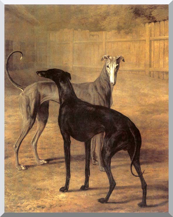Jacques Laurent Agasse Rolla and Portia stretched canvas art print