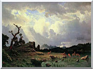 Albert Bierstadt Thunderstorm In The Rocky Mountains stretched canvas art