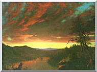 Frederic Edwin Church Twilight In The Wilderness Detail stretched canvas art