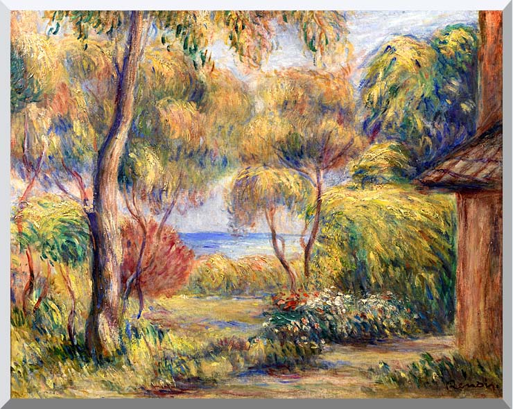 Pierre Auguste Renoir Landscape at Cagnes stretched canvas art print