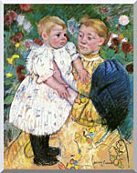 Mary Cassatt In The Garden 1893 stretched canvas art