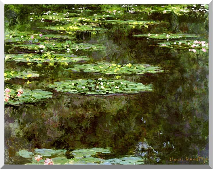 Claude Monet Water-Lilies 1904 (detail) stretched canvas art print