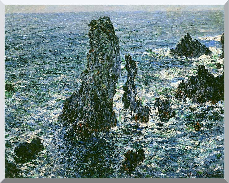 Claude Monet The Pyramids of Port-Coton stretched canvas art print
