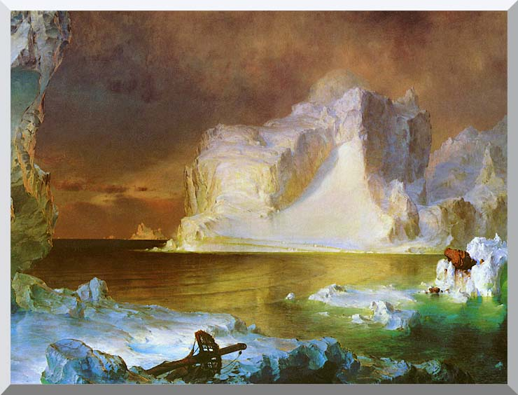 Frederic Edwin Church The Icebergs (detail) stretched canvas art print