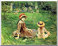 Berthe Morisot In The Garden At Maurecourt stretched canvas art