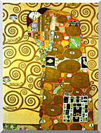 Gustav Klimt Fulfillment Detail stretched canvas art