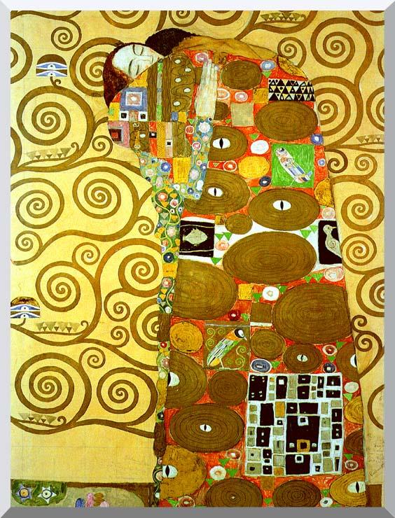 Gustav Klimt Fulfillment (detail) stretched canvas art print