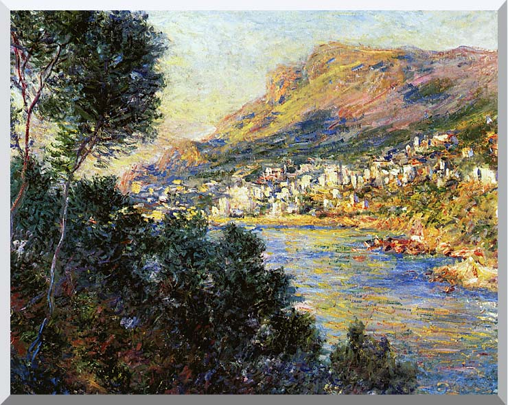 Claude Monet Monte Carlo Seen from Roquebrune stretched canvas art print