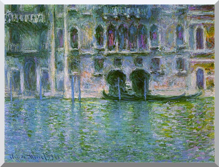 Claude Monet Venice, Palazzo da Mula stretched canvas art print