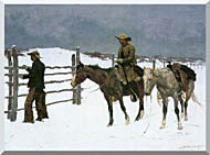 Frederic Remington The Fall Of The Cowboy stretched canvas art