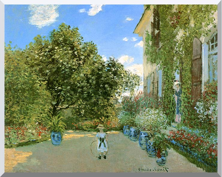 Claude Monet Monet's House at Argenteuil stretched canvas art print