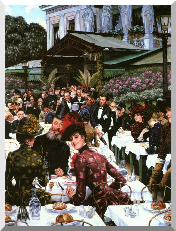 James Tissot The Painters and Their Wives stretched canvas art print