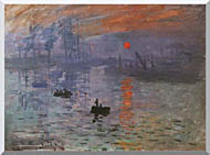 Claude Monet Impression Sunrise stretched canvas art
