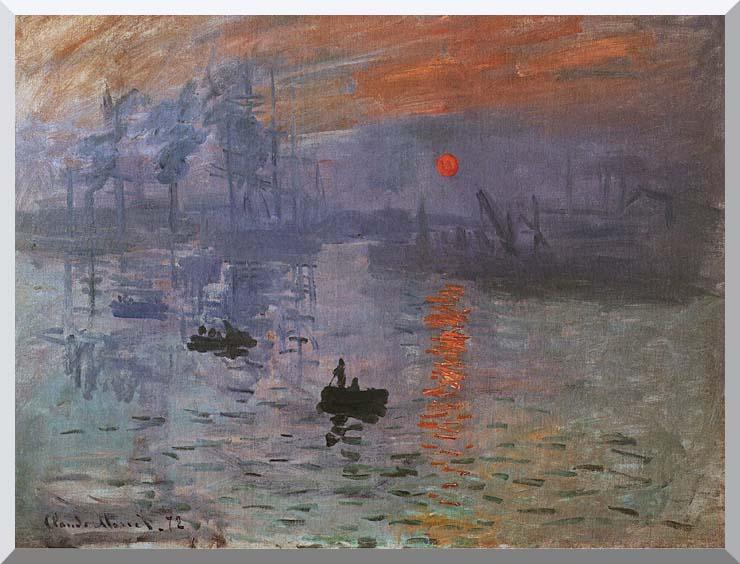 Claude Monet Impression, Sunrise stretched canvas art print
