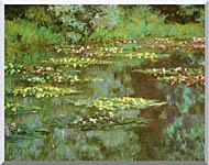Claude Monet Nympheas 1906 Detail stretched canvas art