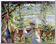 Pierre Auguste Renoir By The Lake stretched canvas art