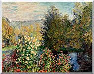 Claude Monet Corner Of A Garden At Montgeron stretched canvas art