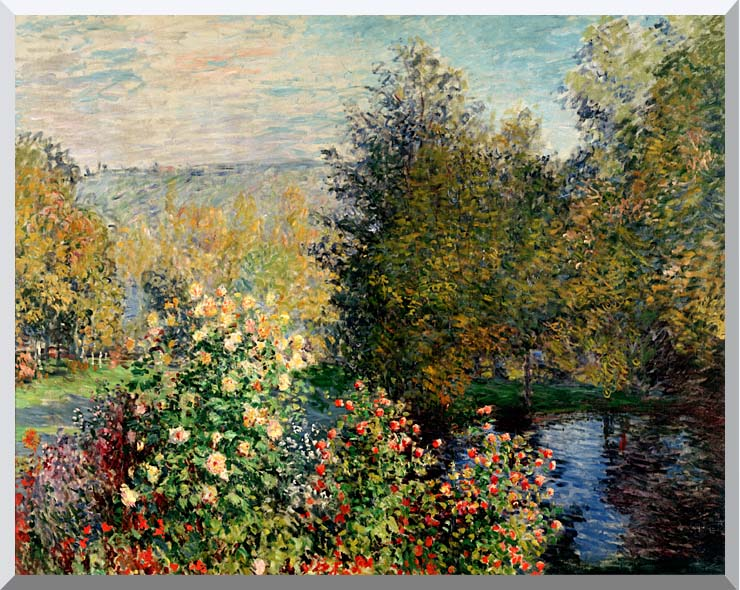 Claude Monet Corner of a Garden at Montgeron stretched canvas art print