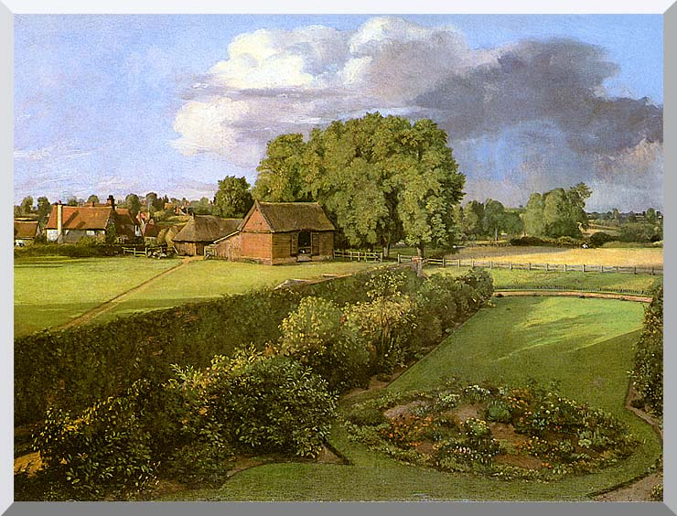 John Constable Golding Constable's Flower Garden stretched canvas art print